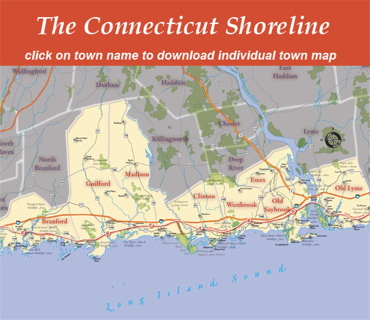 Map Of Connecticut Shoreline Related Keywords